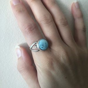 Larimar Heart Ring